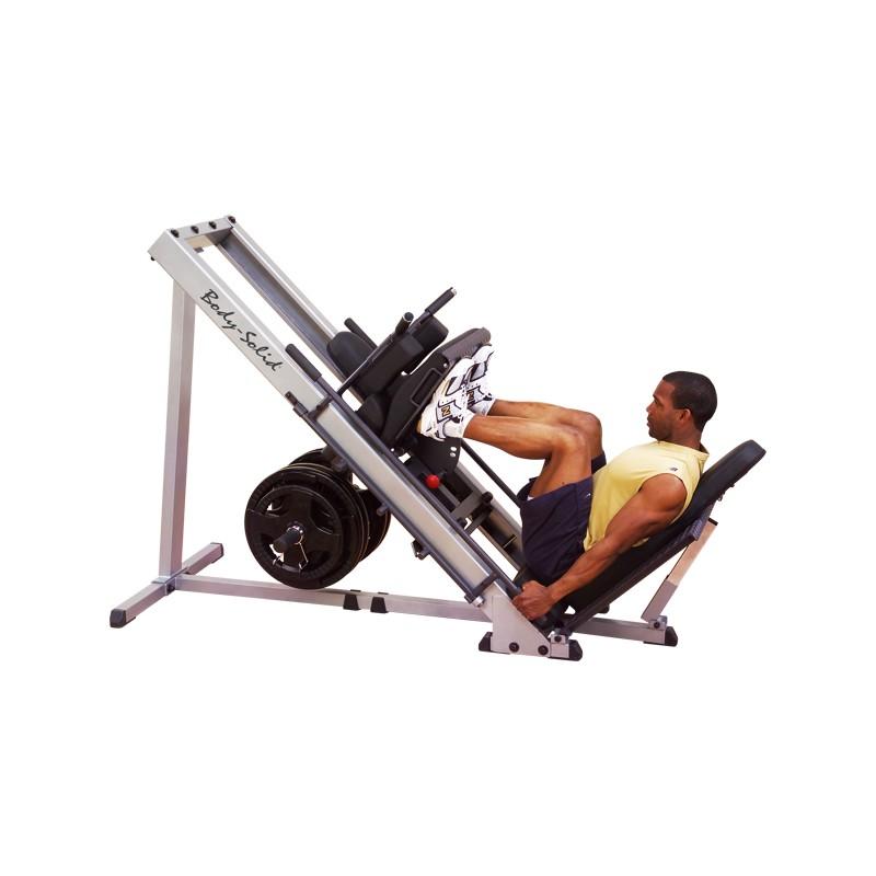Aparato para pierna y sentadilla body solid for Gimnasio 8 de octubre