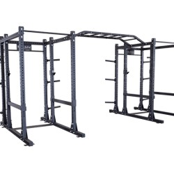 DOBLE POWER RACK CON EXTENSION Y PASAMANOS