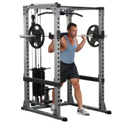 POWER RACK COMPLETO CON BARRA Y DISCOS