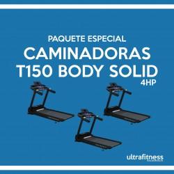 PAQUETE DE 3 CAMINADORAS BODY SOLID 4HP
